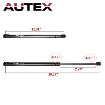 21055603 XYZMOT 2Pcs Universal Lift Supports Extended Length 13.00 INCH Compressed Length 8.40 INCH Force 65 LB 10mm Ball Socket 4127